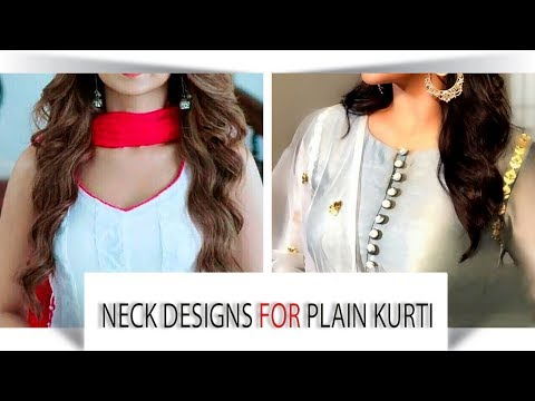 Neck Designs For Kurtis | Neck Designs For Plain Kurti | Suits / Very Simple & easy Neck Designs