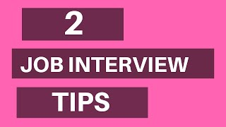 2 Tips For a Successful Phone Interview