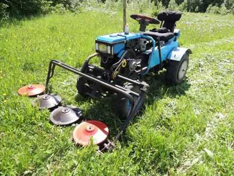 Трактор косилка видео