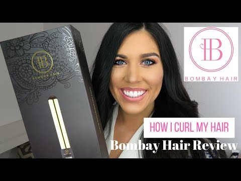 HOW I CURL MY HAIR   BOMBAY GOLD CURLING WAND REVIEW