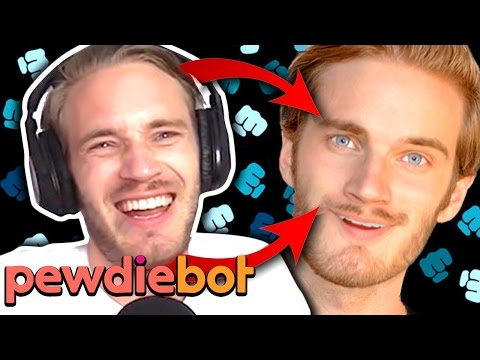 THE PEWDIEBOT IS TERRIFYING!! (Pewdiebot - Part 1)