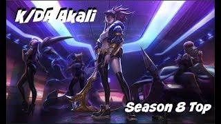 League of Legends: K/DA Akali Top Gameplay