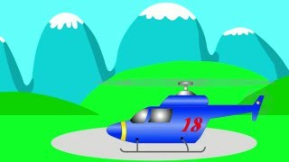 Cartoon Helicopters Teaching Colors - Learning Colours Video for Kids, Toddlers & Babies