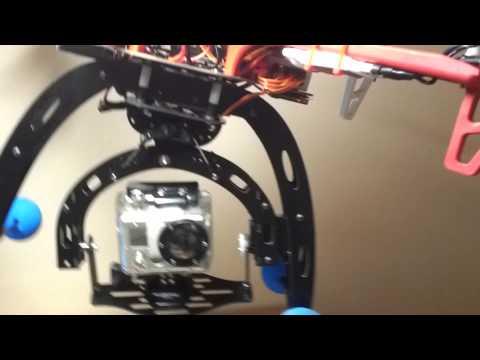 DJI Flame Wheel 450 with 2 Axis Gimbal Test