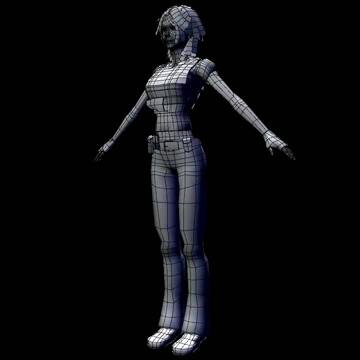 Aya Wire frame animation test.mov - YouTube