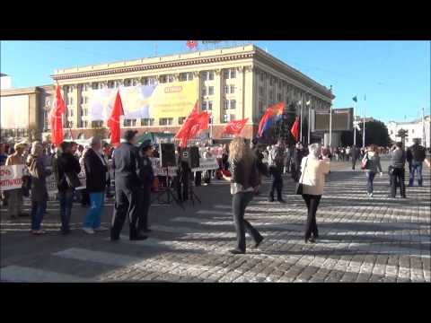 Right Sector attacks anti-austerity protest in Kharkov