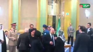 طنطاوى وعنان وعائشة عبدالهادى فى عزاء الملك عبدالله بالسفارة السعودية