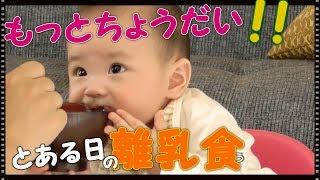 え?それお椀だよ『ゴックン期』にんじんが苦手な赤ちゃん 離乳食 生後6ヶ月 みはるんchannel