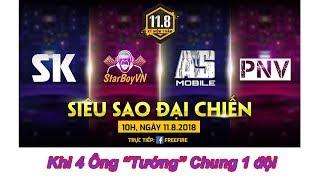 Free Fire| Khi Starboy; AsMobile; Sykeo; PNV Cùng 1 team
