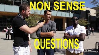 Asking Questions That Make No Sense! (social experiment)