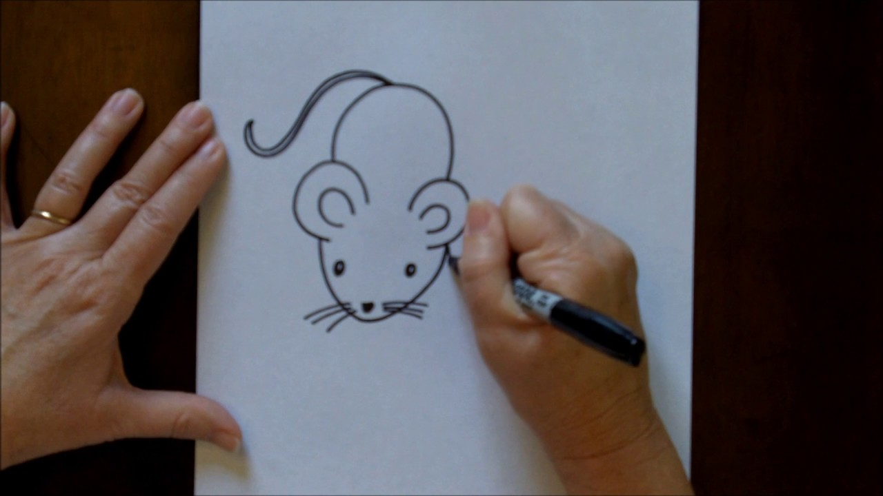 How to Draw a Mouse Cartoon Easy Drawing Lesson for Kids ...