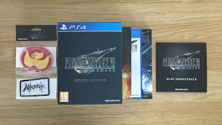 Unboxing: Final Fantasy VII Remake (FF7R) Deluxe Edition for PS4 - Game Exclusive