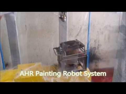 หุ่นยนต์พ่นสี / AHR Painting Robot System (Test run)