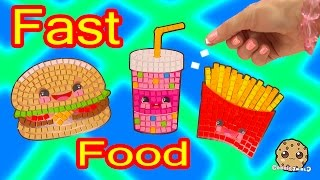 Sticker Mosaics By Number Silly Snacks Fast Foods Cheeseburger Fries Soda Craft Video Cookieswirlc