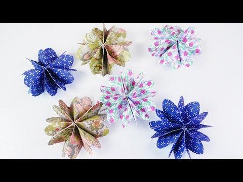Süße Blumen ganz einfach selber machen   DIY Idee mit Papier   Schöne Deko Idee mit Musterpapier