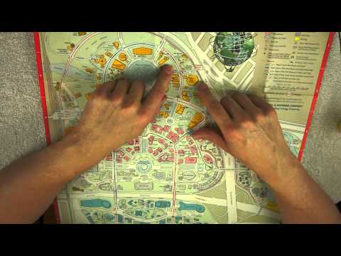 Map Directions Role Play - 1965 World' s Fair - ASMR