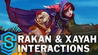 Rakan and Xayah Special Interactions