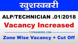 ALP/Technician Vacancy Increased| Know about Zone wise vacancy + Expected cut off