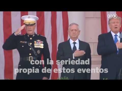 Donald Trump canta entusiasmado el himno de EE UU | Internacional