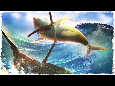 БИТВА С МЕГАЛОДОНОМ В SEA OF THIEVES!!!