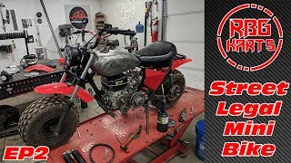 Street Legal Mini Bike Build Ep 2 ~ Mini Bike Monday