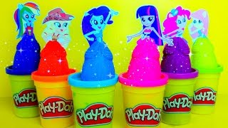 MLP Equestria Girls Playdoh Toys Surprises! My Little Pony,  MLP Kids Stacking Surprise toy video