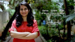 Janan Dave - AIF Clinton Fellow 2016-17