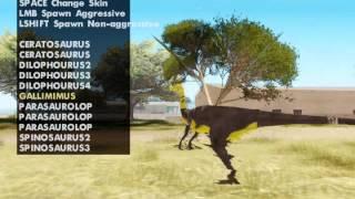 GTA San Andreas mod Dinosaur Skin Selector