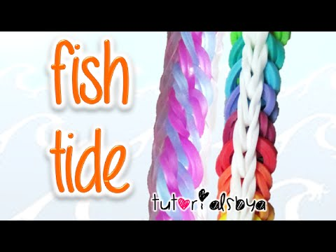 NEW Fish Tide Rainbow Loom Bracelet Tutorial | How To
