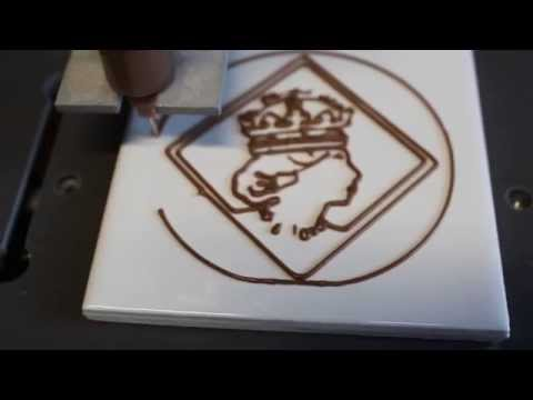 3D Chocolate Printer Creating Diamond Jubilee Image Profile