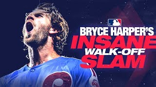 Phillies' Bryce Harper's insane walk-off HR against the Cubs!