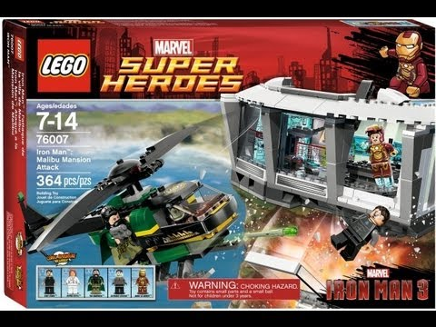 LEGO Iron Man 3 Malibu Mansion Attack Review : LEGO 76007
