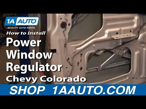 How To Install Replace Front Power Window Regulator Chevy Colorado 04-12 1AAuto.com