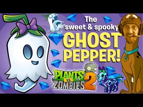 Lets Play Pvz 2:the Ghost Pepper W  Skeleton Zombie (halloween Pinata Party) #overdub video