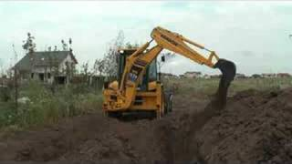 TEST DRIVE KOMATSU WB93 BACKHOE LOADER DIGGING AT LOWEST RPM