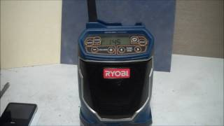 Ryobi Portable Radio Review - Ryobi One+ Radio Review and Demo