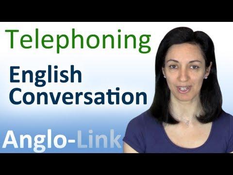 Telephoning - English Conversation Lesson video