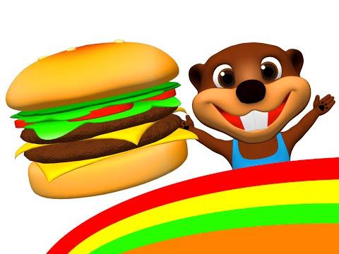 """Happy Hamburger"" | I'm Happy Song & More, Kids Make a Burger & Hot Dog, ESL Feelings & Food Songs"