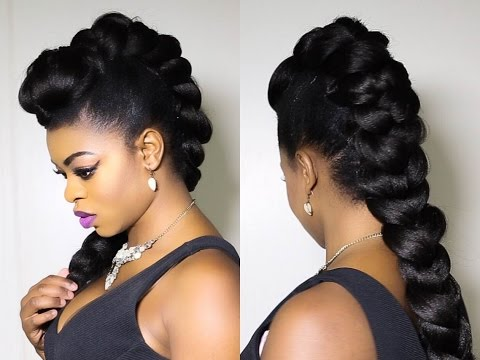 Faux Braided Mohawk on Natural Hair!!!!!!