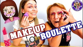 MAKEUP ROULETTE Challenge - MASCARA als FONDATION - Family Fun