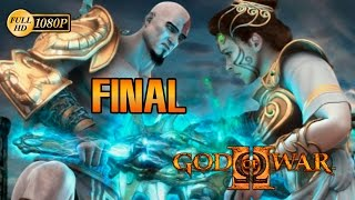 God of War 2 HD Kratos vs Zeus Final Español Gameplay PS3 1080p