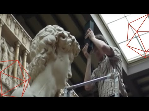 3D scanning of the statue of David Video