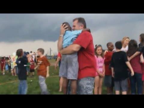 Children scream and cry moments after tornado struck school in Oklahoma