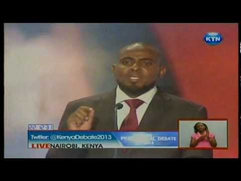 Full second Kenyan  presidential debate on Economy, Integrity and Land