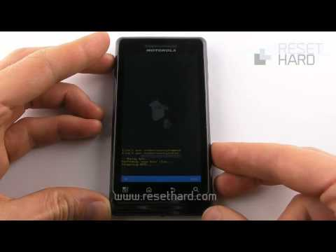 Hard Reset Motorola Milestone 2 How-To