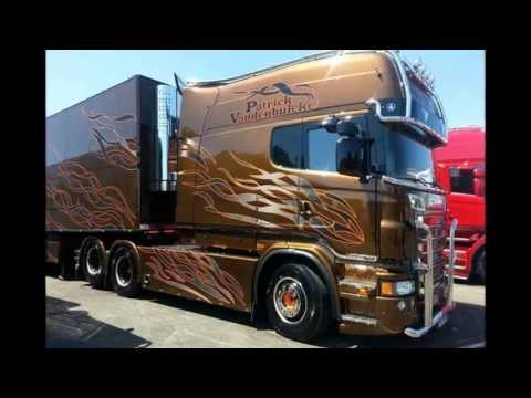Scania R620 V8 Longline P.van den Blucke [STH] France interior: Black Amber replica [HD]