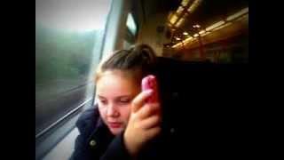 Me and Jemma o the train to London ! xxx