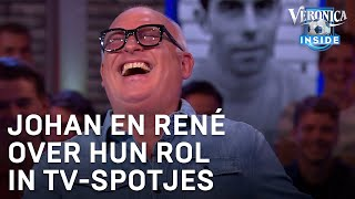 Johan en René lachen over hun rol in tv-spotjes | VERONICA INSIDE