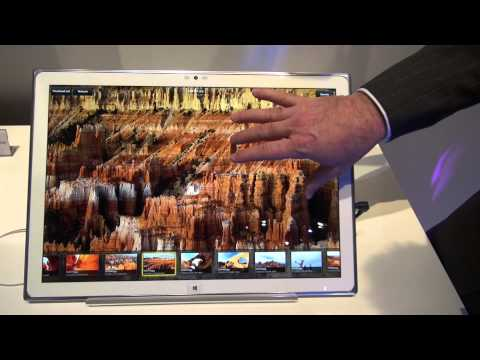 CES 2013 Panasonic 20inch IPS Alpha LCD Panel Touchscreen 4K Windows 8 Tablet