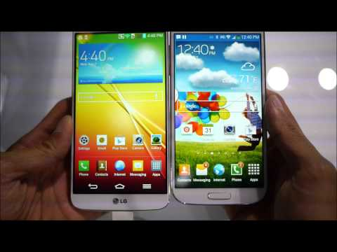 LG G2 vs Samsung Galaxy S4 first look